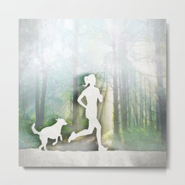 Forest Run Metal Print