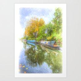 Narrow Boat Art Scene Art Print