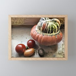 Counter Still with Tomatoes Framed Mini Art Print