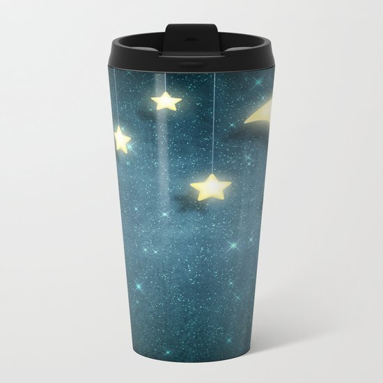 Moon & Stars 01 Metal Travel Mug