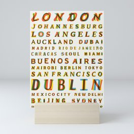 Travel World Cities Mini Art Print