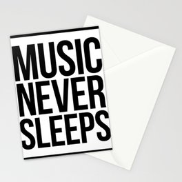 Music Never Sleeps Stationery Cards