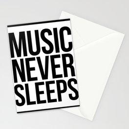 Music Never Sleeps Stationery Cards