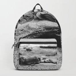 Coquina Rocks in Black and White Backpack