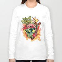 pirate Long Sleeve T-shirts featuring Pirate by Tshirt-Factory