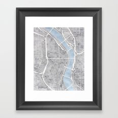 Portland Oregon Framed Art Print