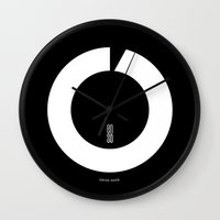 switzerland Wall Clocks featuring ENSO IN SWITZERLAND by THE USUAL DESIGNERS
