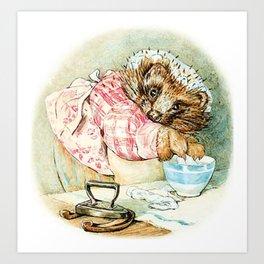 Mrs. Tiggywinkle by Beatrix Potter Art Print