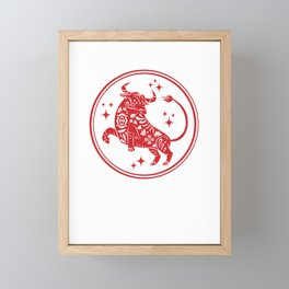 Happy Chinese New Year 2021 Year Of The Ox Zodiac Gift Framed Mini Art Print