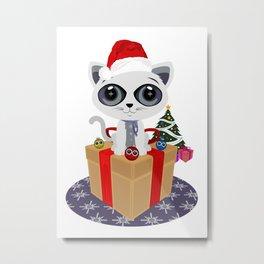 Christmas - Kitten Metal Print