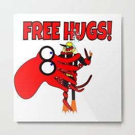 Free Hugs! Metal Print