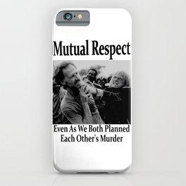 Werner Herzog and Klaus Kinski's Mutual Respect iPhone Case