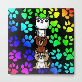 Cute Dog Stack Metal Print
