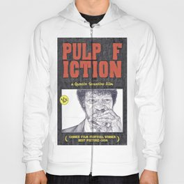 PULP FICTION hand drawn movie poster in pencil Hoody