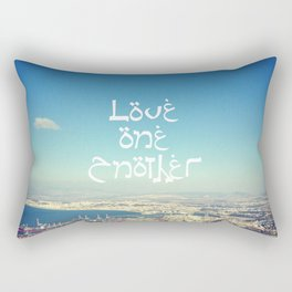 Love One Another Rectangular Pillow