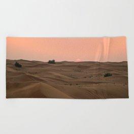 Arabian Desert Sunset Beach Towel