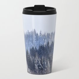 Blue shades in cold winter morning Travel Mug