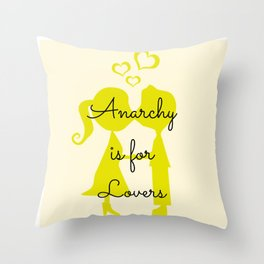 Anarchy is for Lovers Throw Pillow
