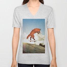 Skateboard FOX! Unisex V-Neck