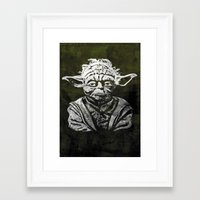 yoda Framed Art Prints featuring Yoda by Some_Designs
