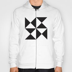 B/W triangle X4 pattern Hoody