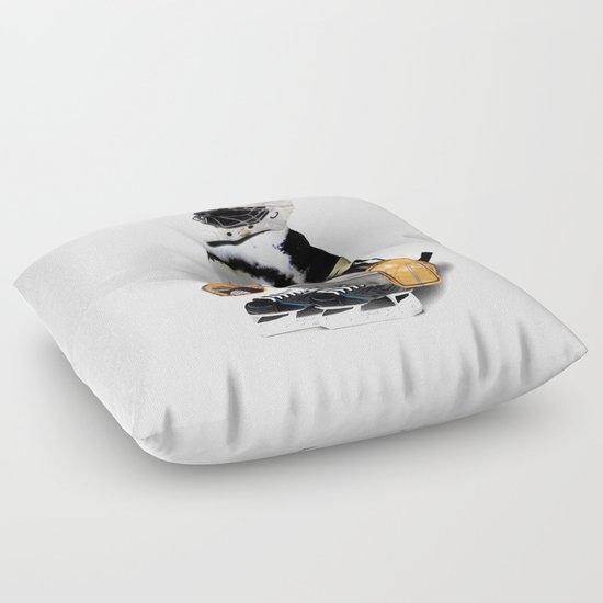 Little Mascot Hockey Player Penguin Floor Pillow