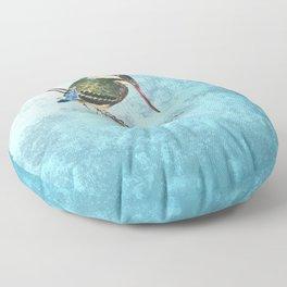 Watching the river Floor Pillow