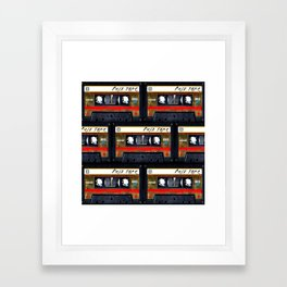 Retro cassette mix tape Framed Art Print