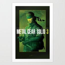 "Metal Gear Solid 3 ""Naked Snake"" Poster Art Print"