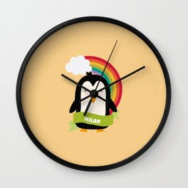 Penguin Rainbow from Milan T-Shirt for all Ages Wall Clock
