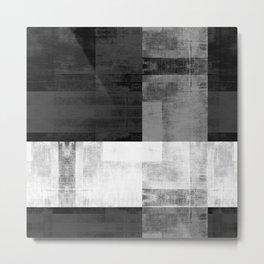 Case Study No. 24   Black + White Metal Print