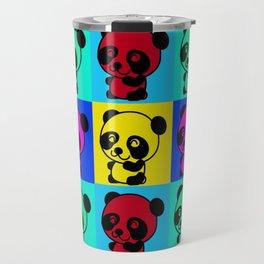 Cute Little Panda Bear Art Travel Mug