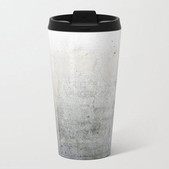 Concrete Style Texture Metal Travel Mug