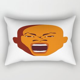 Orange Screaming face Digital pop Art graphic design zolliophone shop Canvas Rectangular Pillow