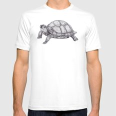 Turtle Pattern MEDIUM Mens Fitted Tee White