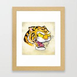 Tiger Tattoo Flash Framed Art Print