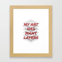 Art Snob Framed Art Print