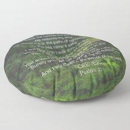 Psalms 23 Lords Prayer Floor Pillow