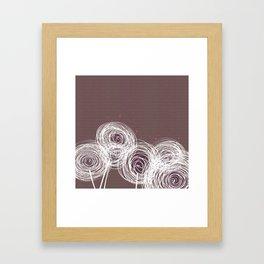 Doodle Flowers in Purple by Friztin Framed Art Print