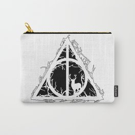 Deathly Hallows - brenches and stag - voids and silhouette (black) - Expecto Patronum   potterheads Carry-All Pouch