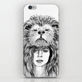 Lion Lady iPhone Skin