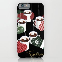 Hot cocoa toast in black iPhone Case