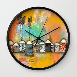 one fine day at the bach Wall Clock
