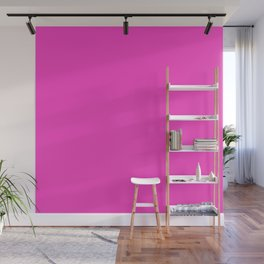 Bright neon pink color Wall Mural