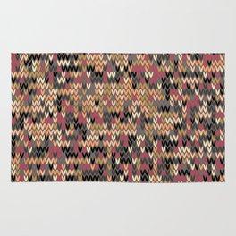 Heathered knit textile 2 Rug