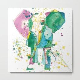 Elephant Matriarch Metal Print
