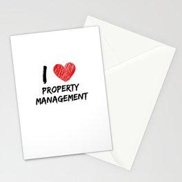 I Love Property Management Stationery Cards