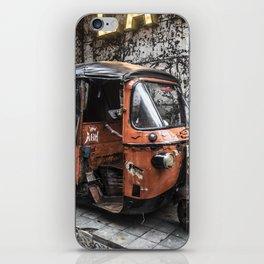 ORANGE TUK TUK iPhone Skin