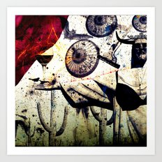 WINE&APOCALISSE by ZZGALM Art Print