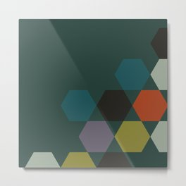 cluster || green night Metal Print